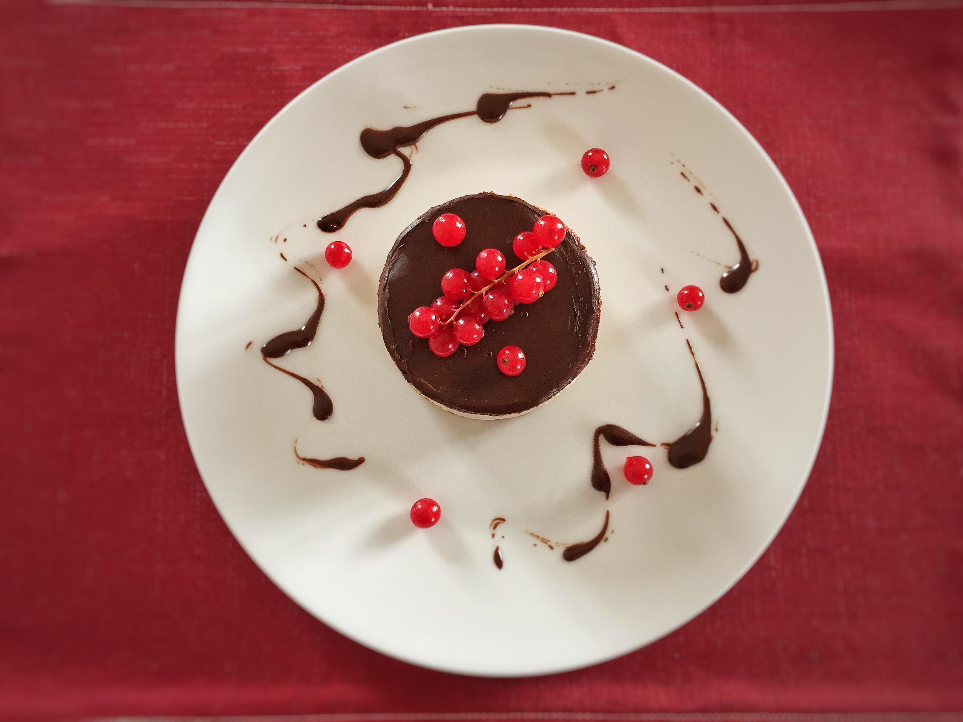 Cheesecake con ribes e zucca