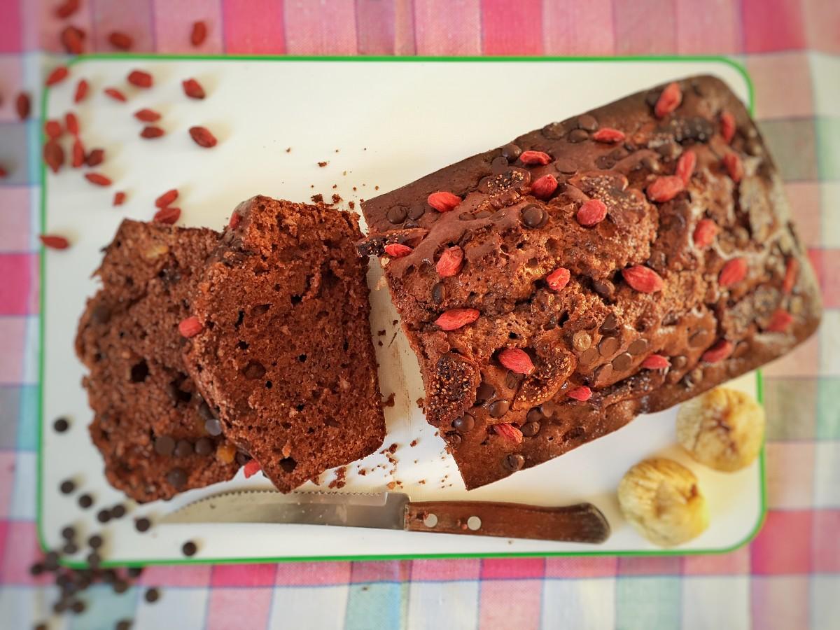 Plumcake al cacao e fichi secchi