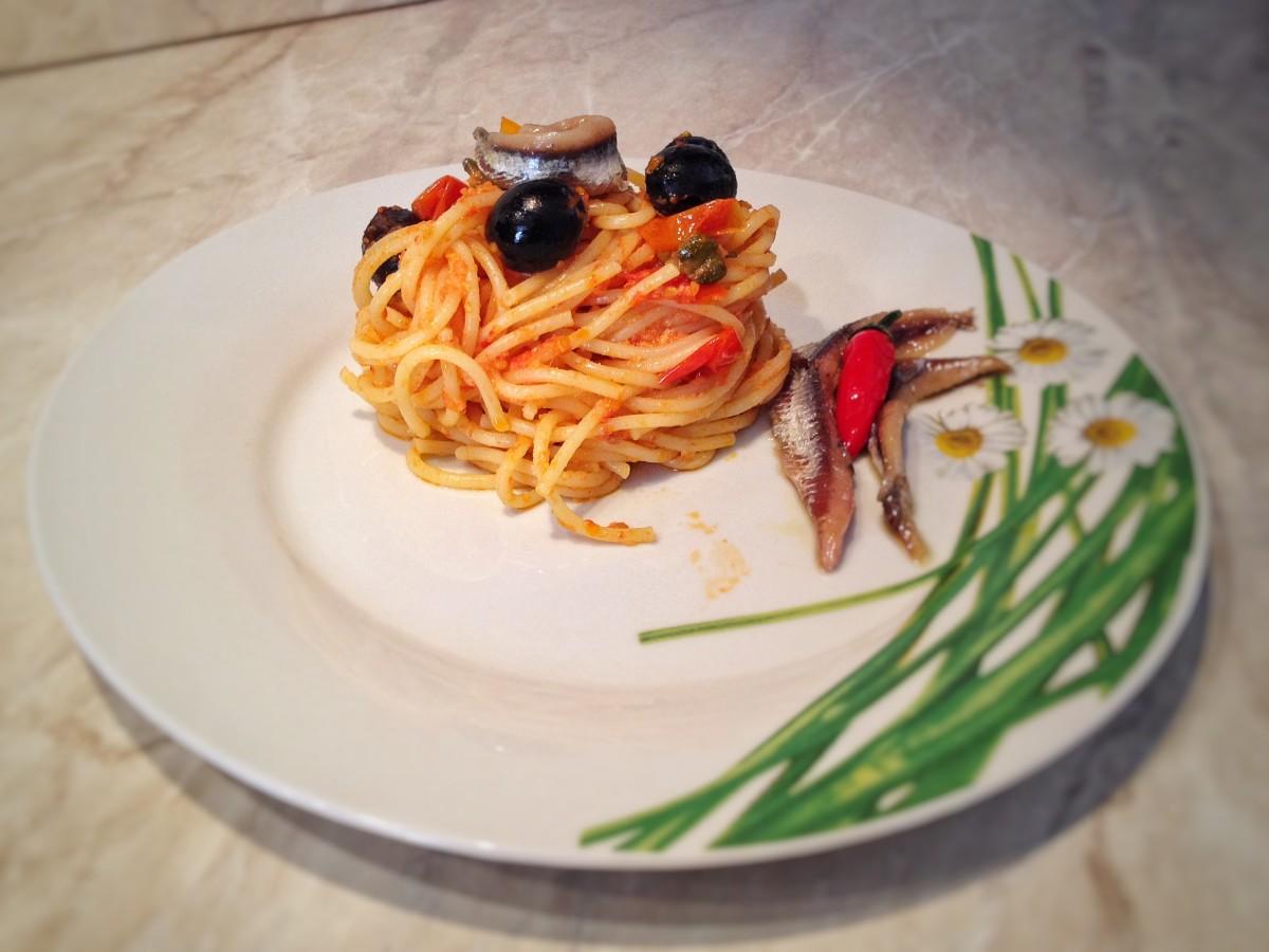 Spaghetti al volo con gusto