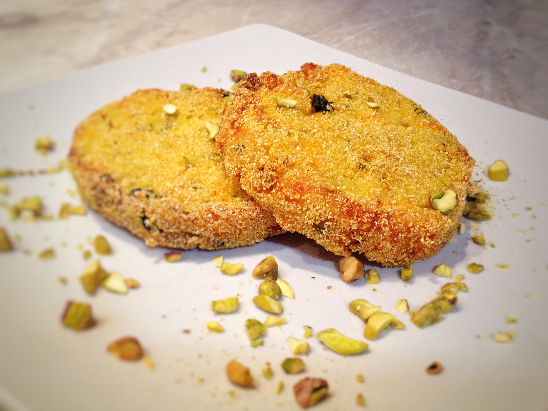 Medaglioni di zucca e pistacchi