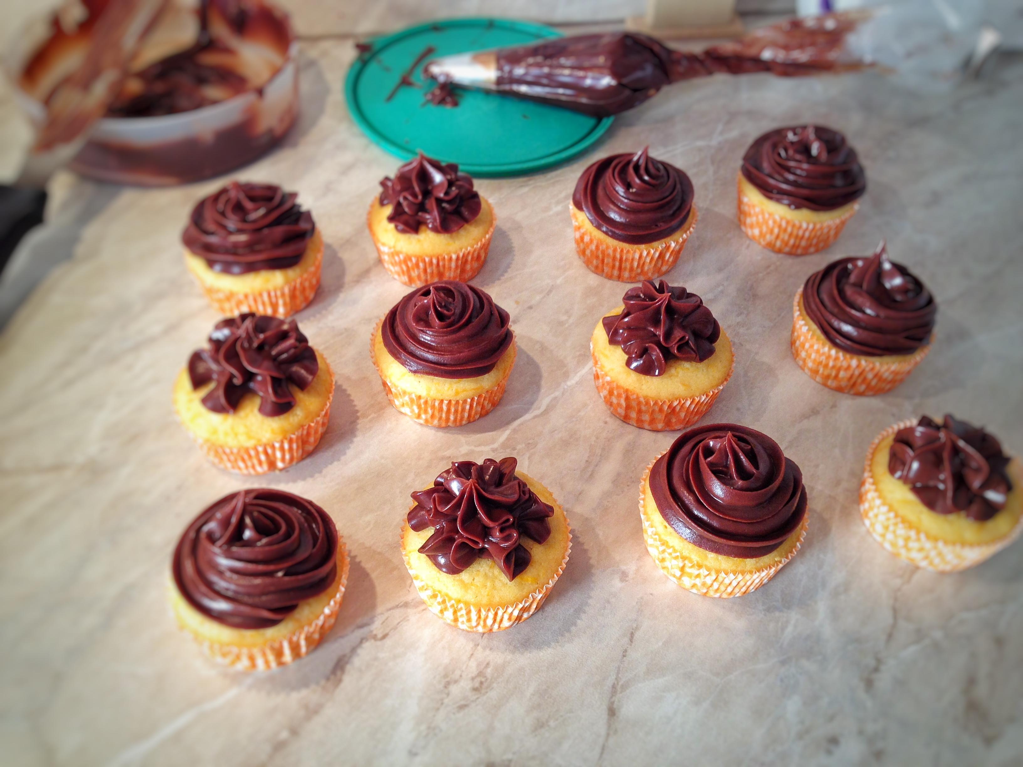 Cupcake alla zucca con ganache al cioccolato
