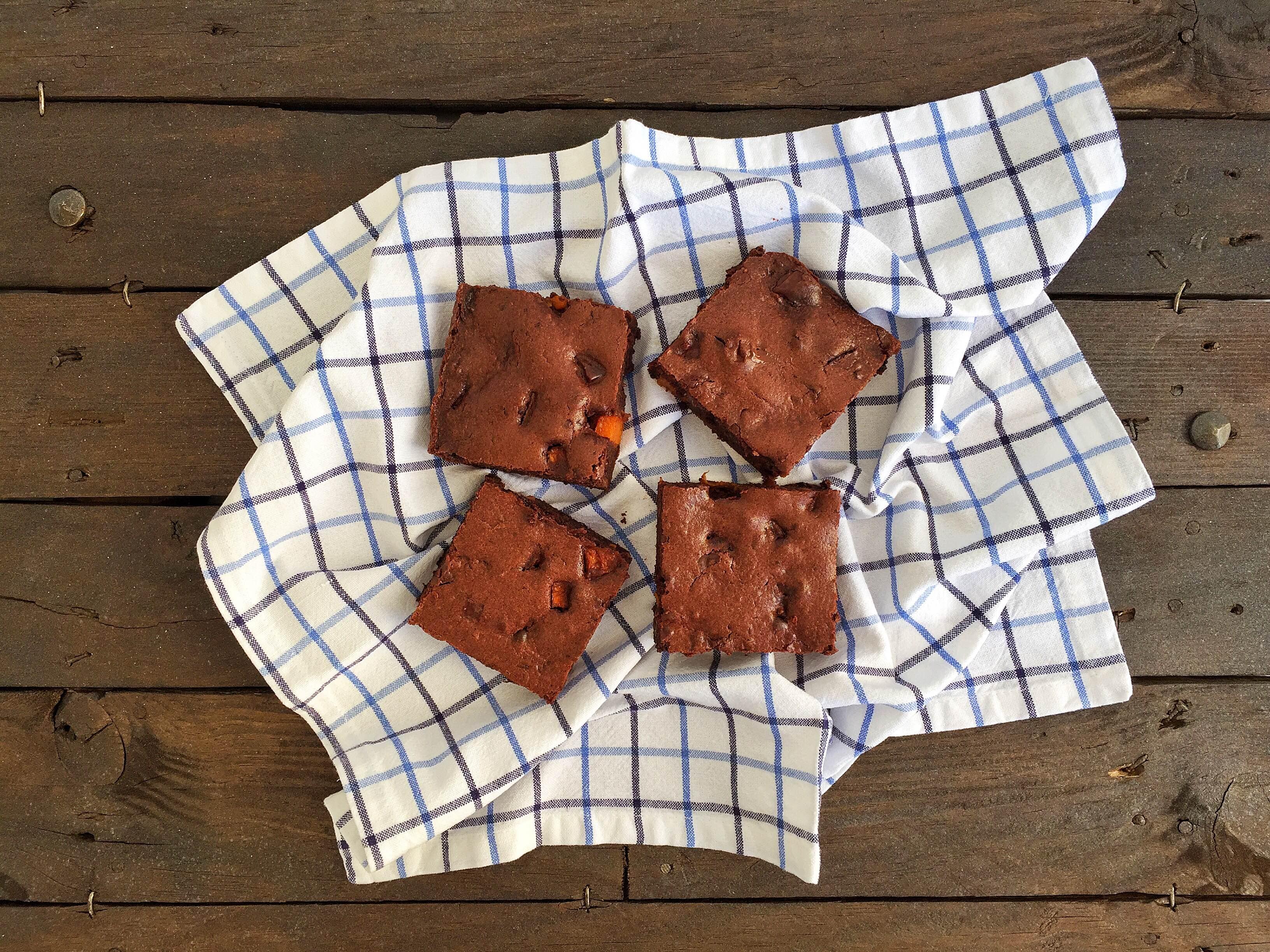 Brownie cioccolato fondente e zucca