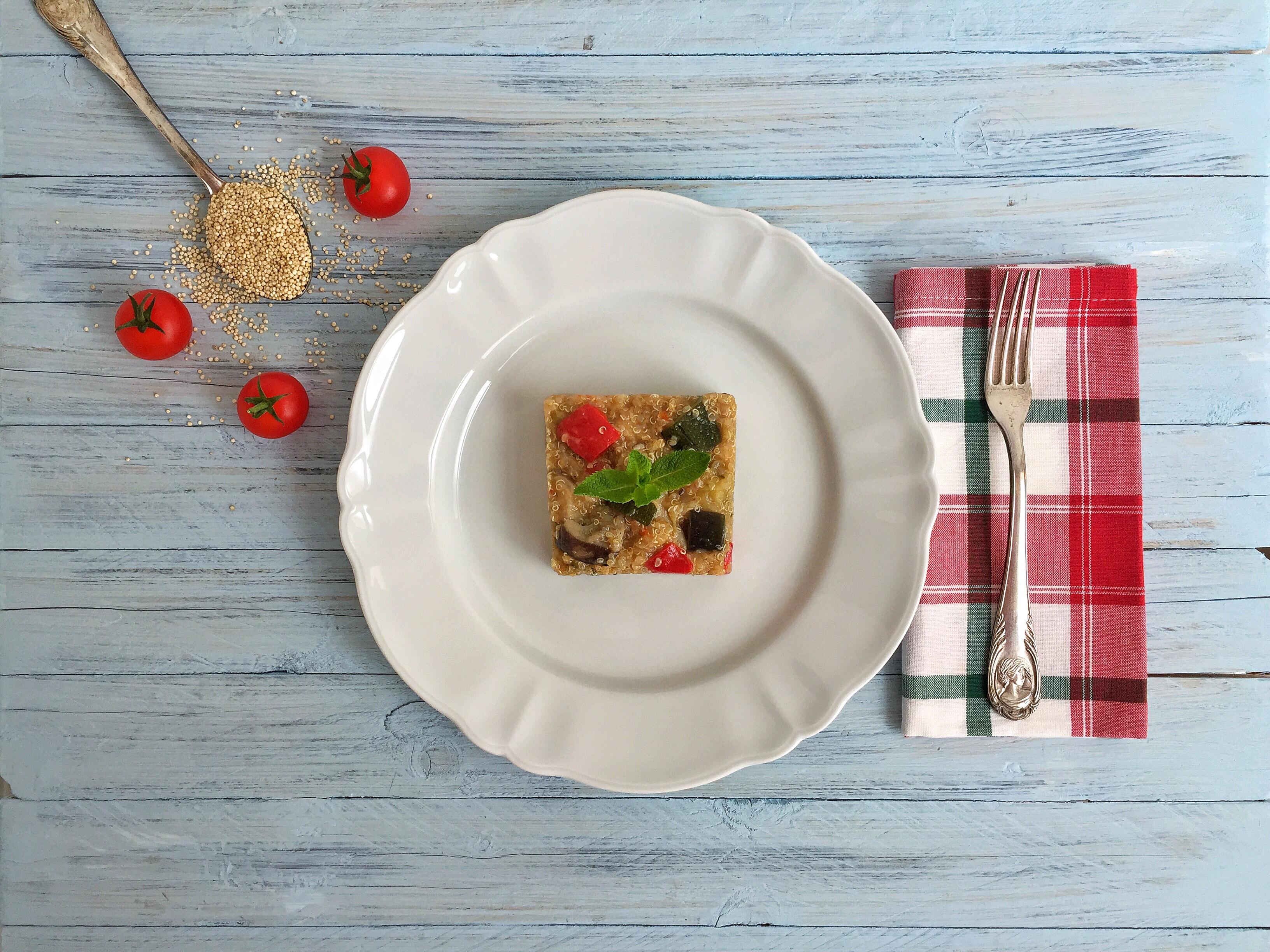 Quinoa con verdure aromatizzate alla menta