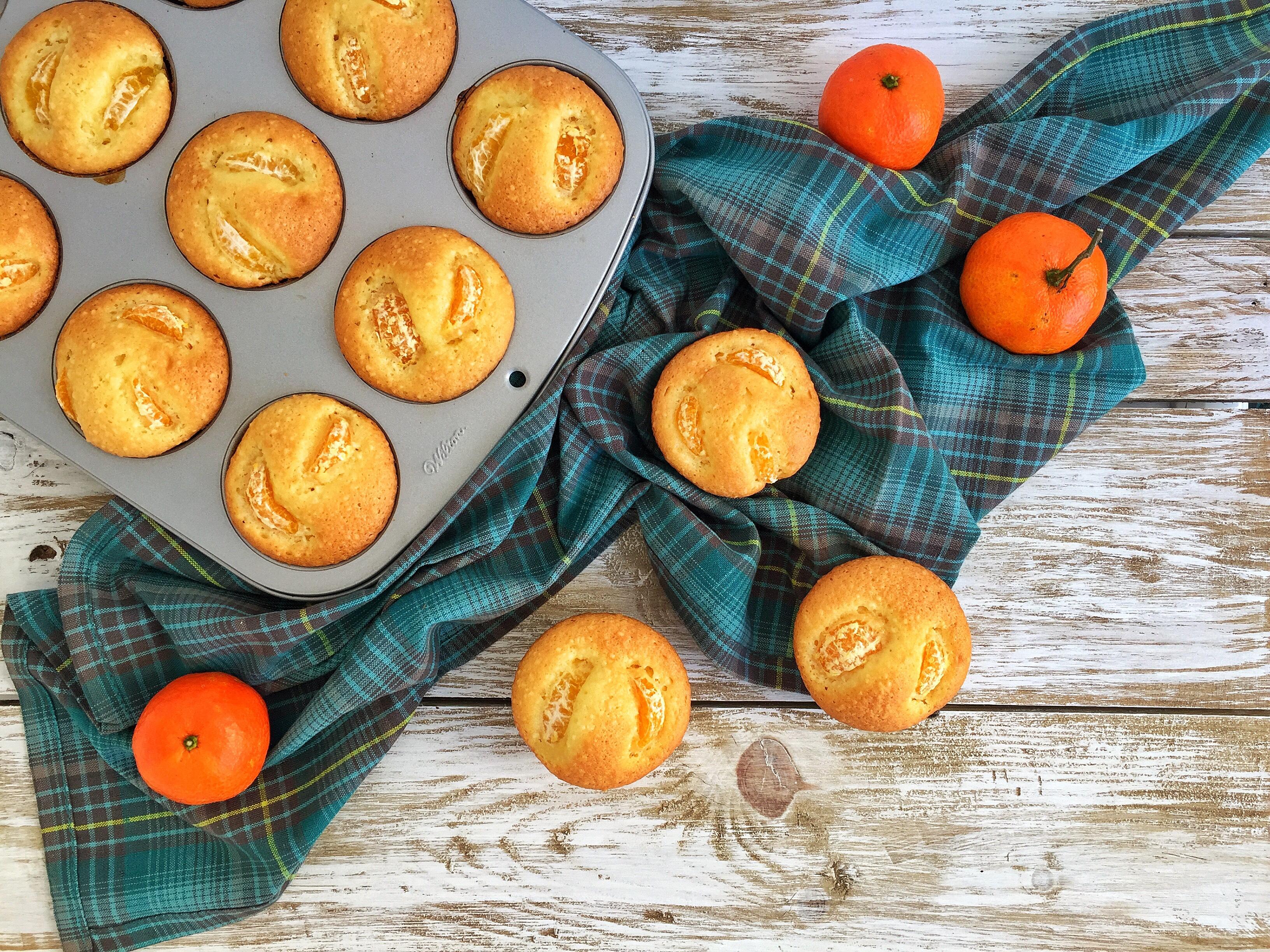 Muffin con arancia e mandarini