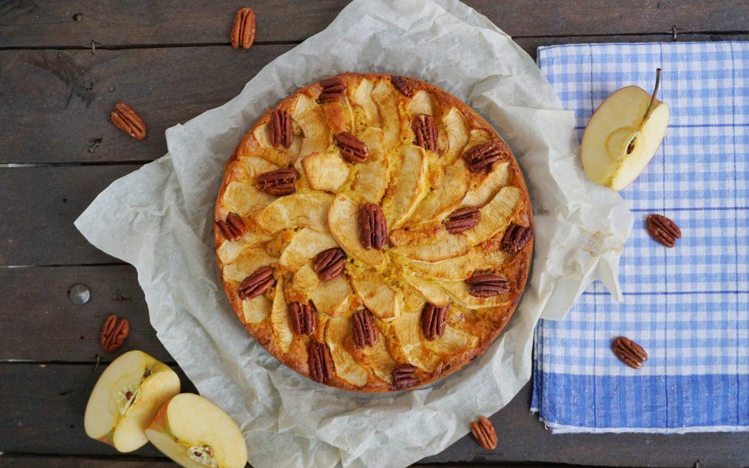 Torta di mele e mandorle con olio EVO